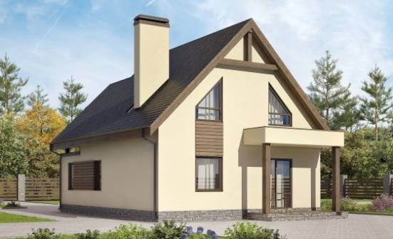 120-005-L Two Story House Plans and mansard with garage, economical Models Plans,