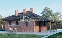 070-006-L One Story House Plans, economy Cottages Plans, House Expert
