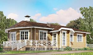 095-001-L One Story House Plans, the budget Villa Plan,