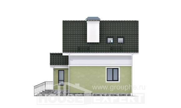 070-001-R Two Story House Plans with mansard roof, tiddly Design House,