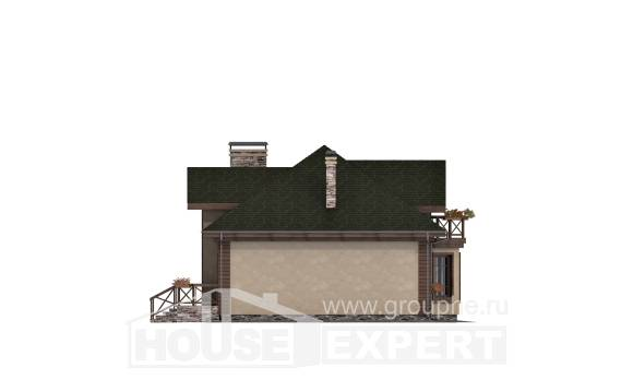 180-010-R Two Story House Plans with mansard roof with garage under, spacious House Planes,