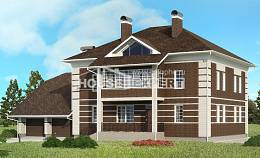 505-002-L Three Story House Plans with garage in front, a huge Tiny House Plans,