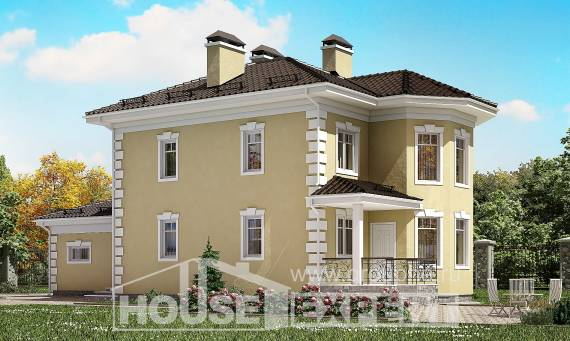 150-006-L Two Story House Plans and garage, a simple Woodhouses Plans,