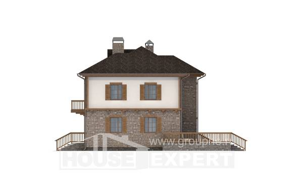 155-006-L Two Story House Plans with garage under, available House Plan, House Expert