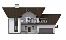 300-002-R Two Story House Plans with mansard roof and garage, best house Plans Free,