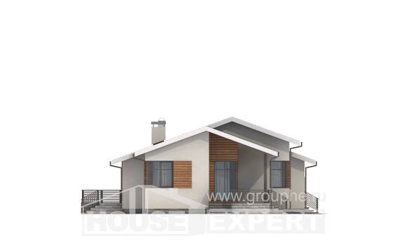 135-002-R One Story House Plans with garage under, the budget House Building,