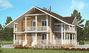 130-001-R Two Story House Plans with mansard, economical Architects House