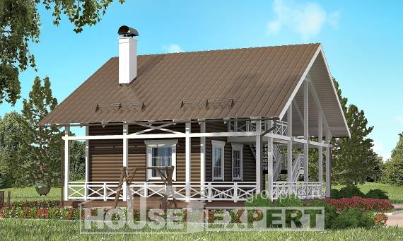 080-001-R Two Story House Plans with mansard, modest Architectural Plans,
