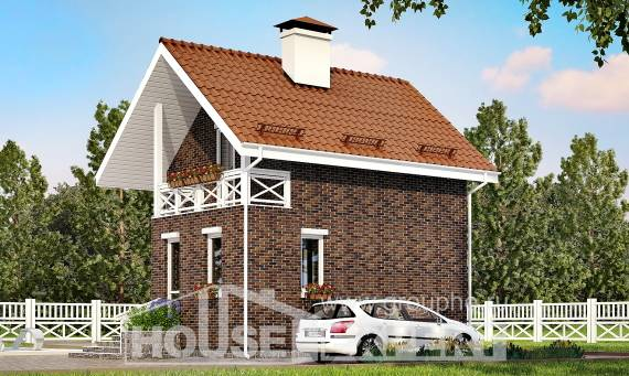 045-001-L Two Story House Plans with mansard roof, inexpensive House Blueprints,