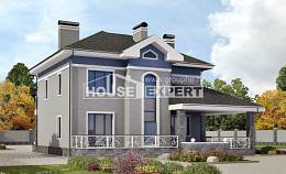 200-006-L Two Story House Plans, cozy Design Blueprints,
