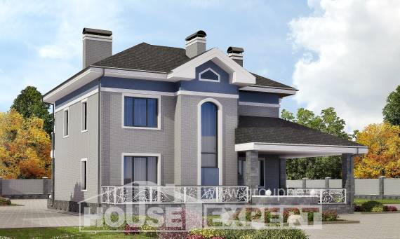 200-006-L Two Story House Plans, best house Timber Frame Houses Plans, House Expert