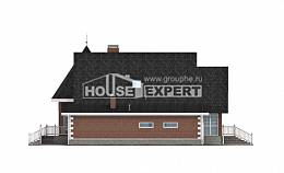 220-002-L Two Story House Plans and mansard with garage in back, average House Building,