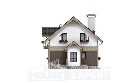 105-001-L Two Story House Plans with mansard, a simple Plans To Build,