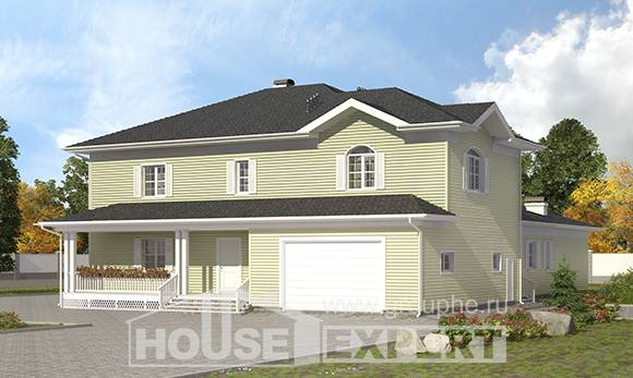 410-002-L Two Story House Plans with garage, spacious House Plans,