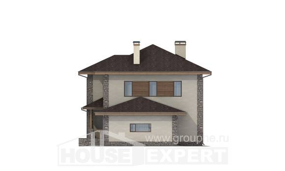 185-004-R Two Story House Plans with garage, spacious Plans To Build,