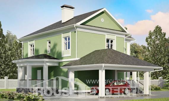 170-001-L Two Story House Plans with garage, best house Custom Home
