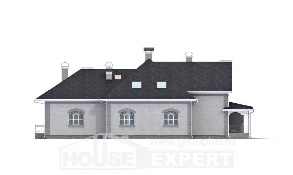 385-001-R Two Story House Plans and mansard with garage, cozy Custom Home, House Expert