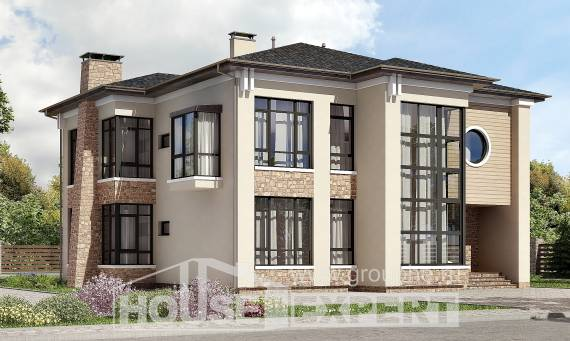 300-005-L Two Story House Plans, a huge Building Plan,