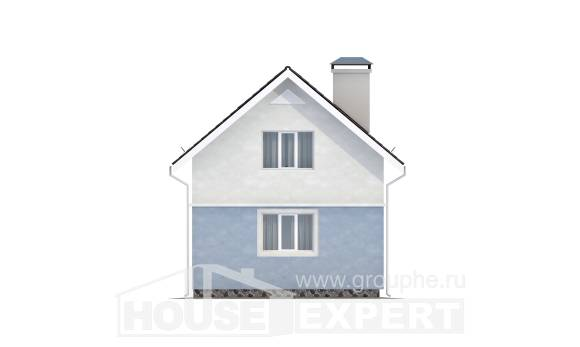 095-002-R Two Story House Plans and mansard, modern Architect Plans,