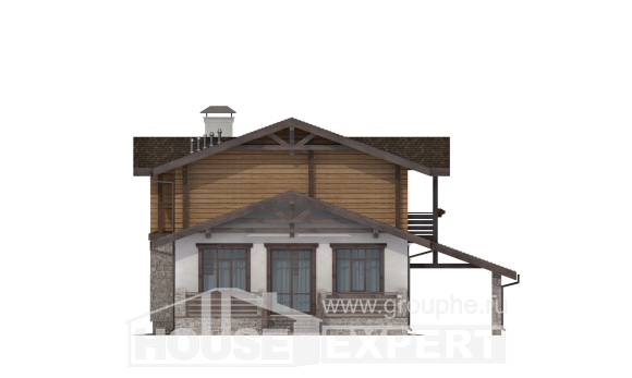170-004-L Two Story House Plans and mansard and garage, the budget Models Plans,