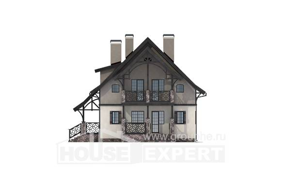 180-014-R Two Story House Plans and mansard, available Tiny House Plans,