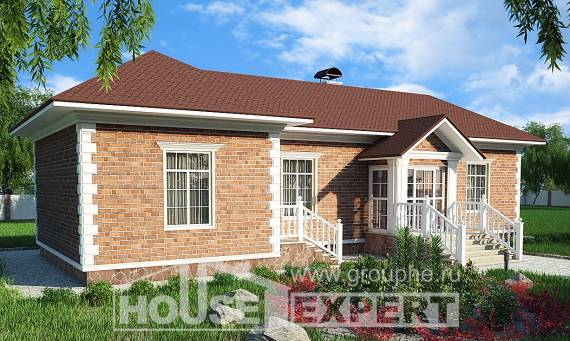090-001-L One Story House Plans, small Ranch, House Expert