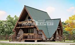 070-003-R Two Story House Plans with mansard roof, the budget Construction Plans,