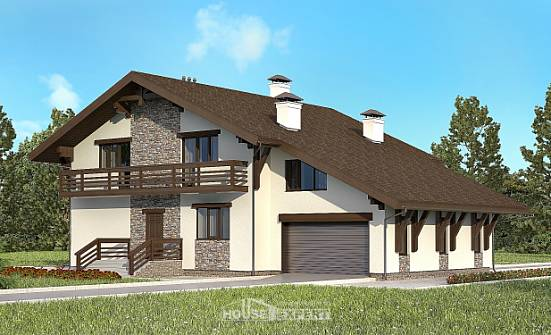 280-001-R Two Story House Plans with mansard roof with garage, a huge House Online, House Expert