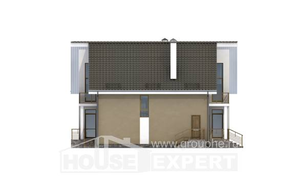 170-006-L Two Story House Plans and mansard, classic Floor Plan