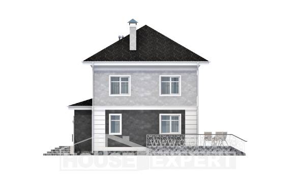 090-003-R Two Story House Plans, a simple Custom Home Plans Online