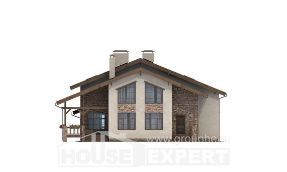 240-003-L Two Story House Plans with mansard roof, classic Construction Plans,