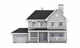 190-001-L Two Story House Plans with garage in front, best house Drawing House,