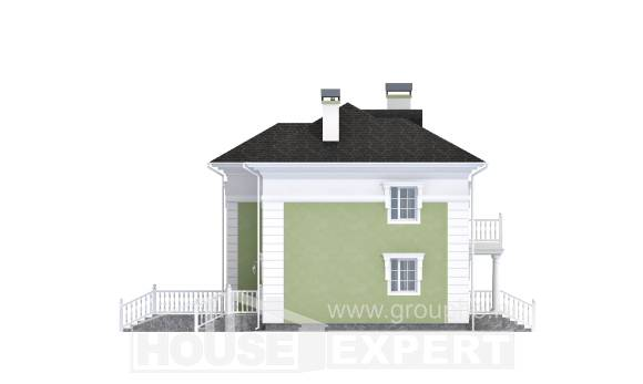 155-005-R Two Story House Plans, cozy Planning And Design,