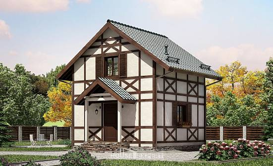 060-002-R Two Story House Plans and mansard, compact Blueprints of House Plans,