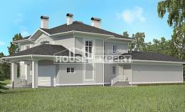 360-001-R Two Story House Plans with garage in back, classic Construction Plans,