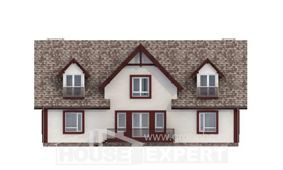 300-008-L Two Story House Plans and mansard and garage, modern Planning And Design
