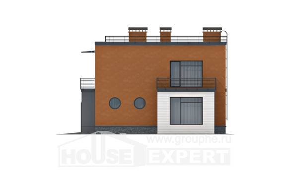 260-002-L Two Story House Plans with garage in back, big Design House