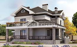365-001-L Two Story House Plans and garage, spacious House Blueprints
