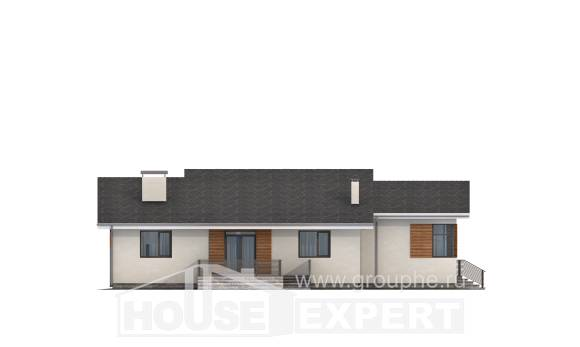 135-002-R One Story House Plans with garage under, best house Home Plans,