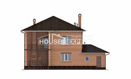 245-003-L Two Story House Plans with garage under, cozy Home Plans,