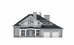 385-001-R Two Story House Plans with mansard roof with garage, luxury House Planes, House Expert