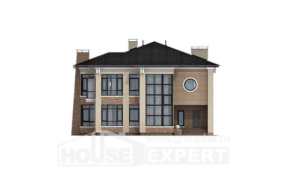 300-005-L Two Story House Plans, cozy Custom Home,