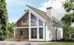 170-006-L Two Story House Plans with mansard, beautiful Floor Plan