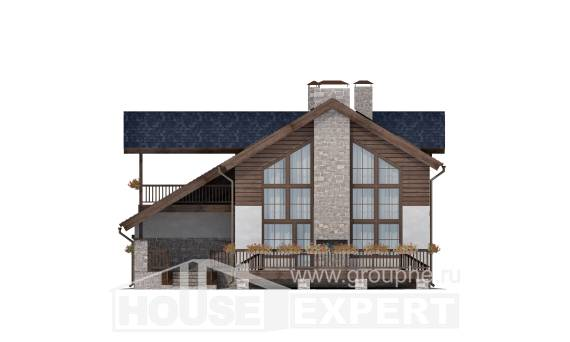 240-002-L Two Story House Plans with mansard with garage, beautiful Plans To Build,