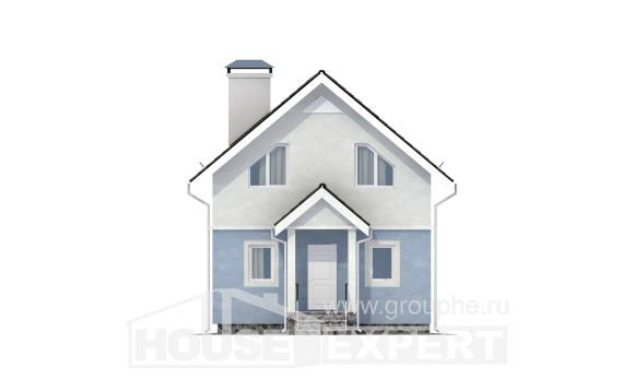 095-002-R Two Story House Plans with mansard roof, cozy House Plans,