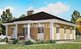 130-002-L One Story House Plans with garage, modern Home Plans,
