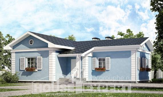090-004-R One Story House Plans, modest Home Blueprints,
