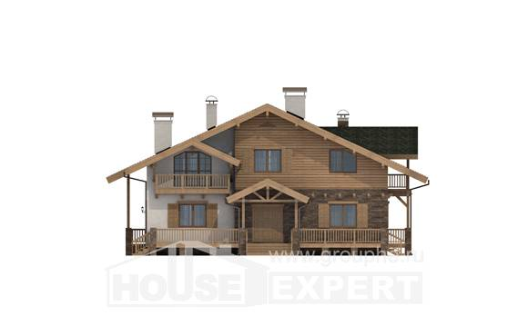 250-003-L Two Story House Plans and mansard, modern House Blueprints,