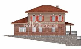 380-002-L Three Story House Plans with garage in back, classic Design House, House Expert