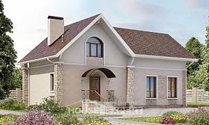 150-012-L Two Story House Plans with mansard roof, cozy Custom Home